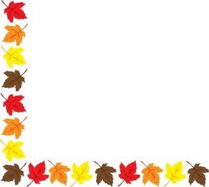 leaf clipart image a colorful fall border clipart best clipart rh pinterest com Planting Seeds Clip Art Autumn Background Clip Art