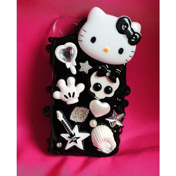 It's black and white Iphone 4 Cover ($28) ❤ liked on Polyvore