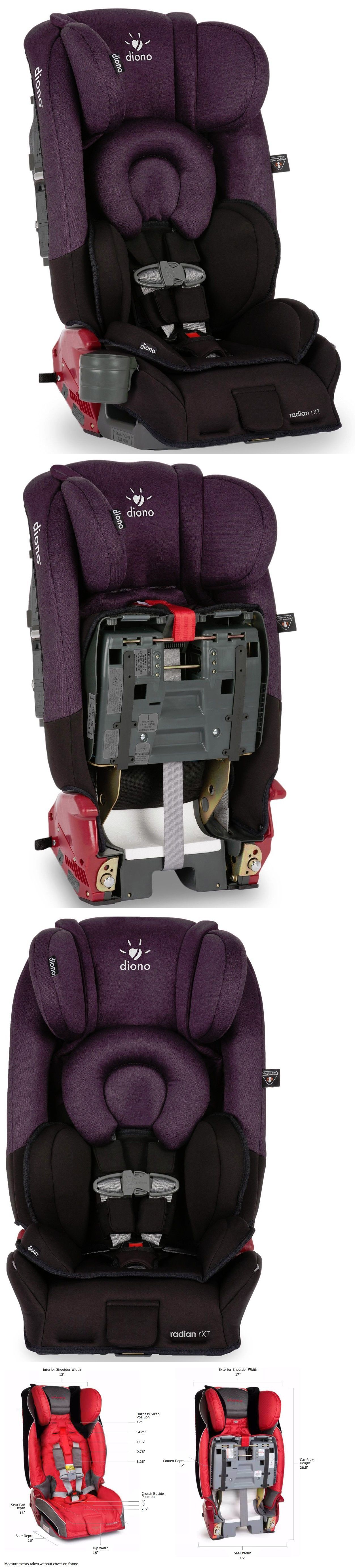 Booster to 80lbs Diono Radian Rxt Black Plum Convertible