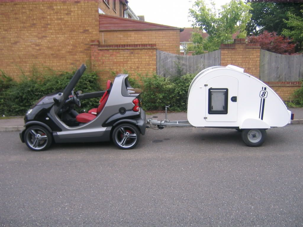 who else uses a teardrop trailer smart car of america forums smart car forum erides. Black Bedroom Furniture Sets. Home Design Ideas