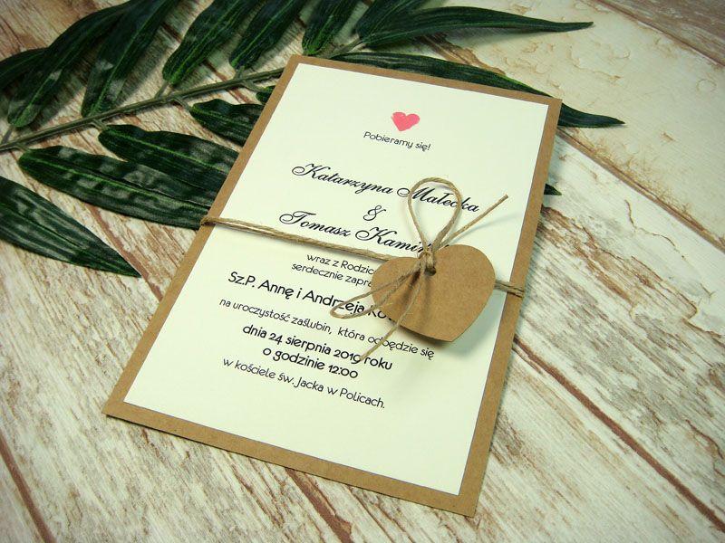 Zaproszenia ślubne Jednokartkowe Dwustronne D2 Zaproszenia Na