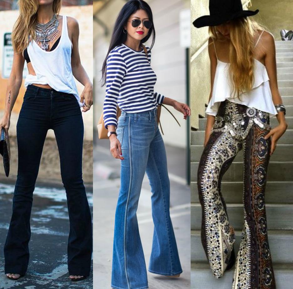 Moda moda 2015 anos 70 cal a flare cal a boca - Moda boho chic ...