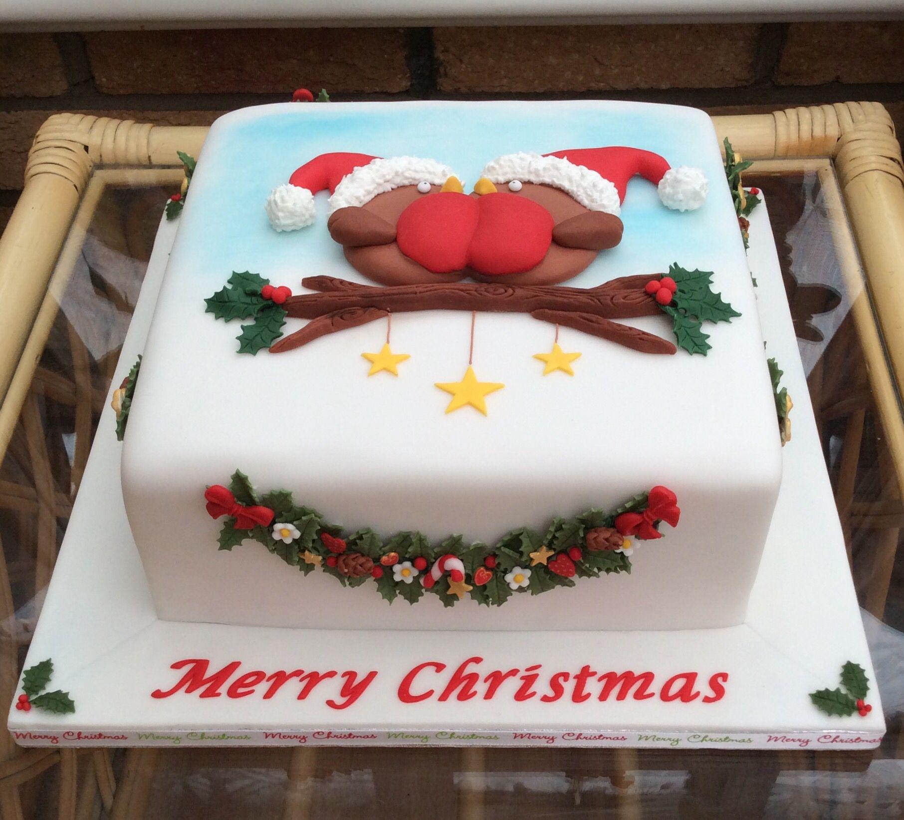 Robin Christmas Cake | Christmas cake decorations