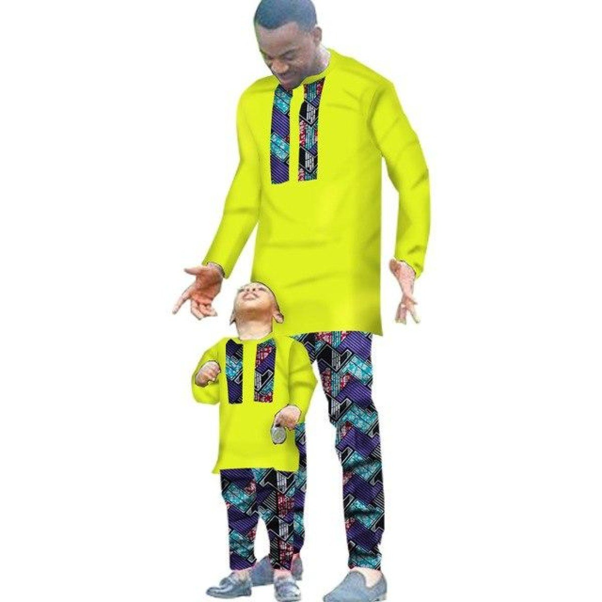 African Clothing 2 Pieces Set For Man And Boy Long Sleeve