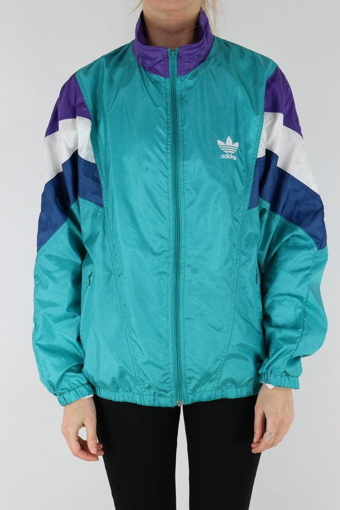 Adidas Shell Suit Jacket Green Large   Shell suit, Jackets