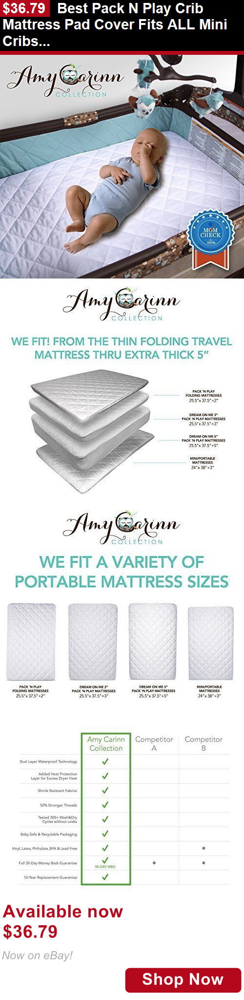 Best baby crib mattress pad - Baby Safety Sleep Positioners Best Pack N Play Crib Mattress Pad Cover Fits All Mini