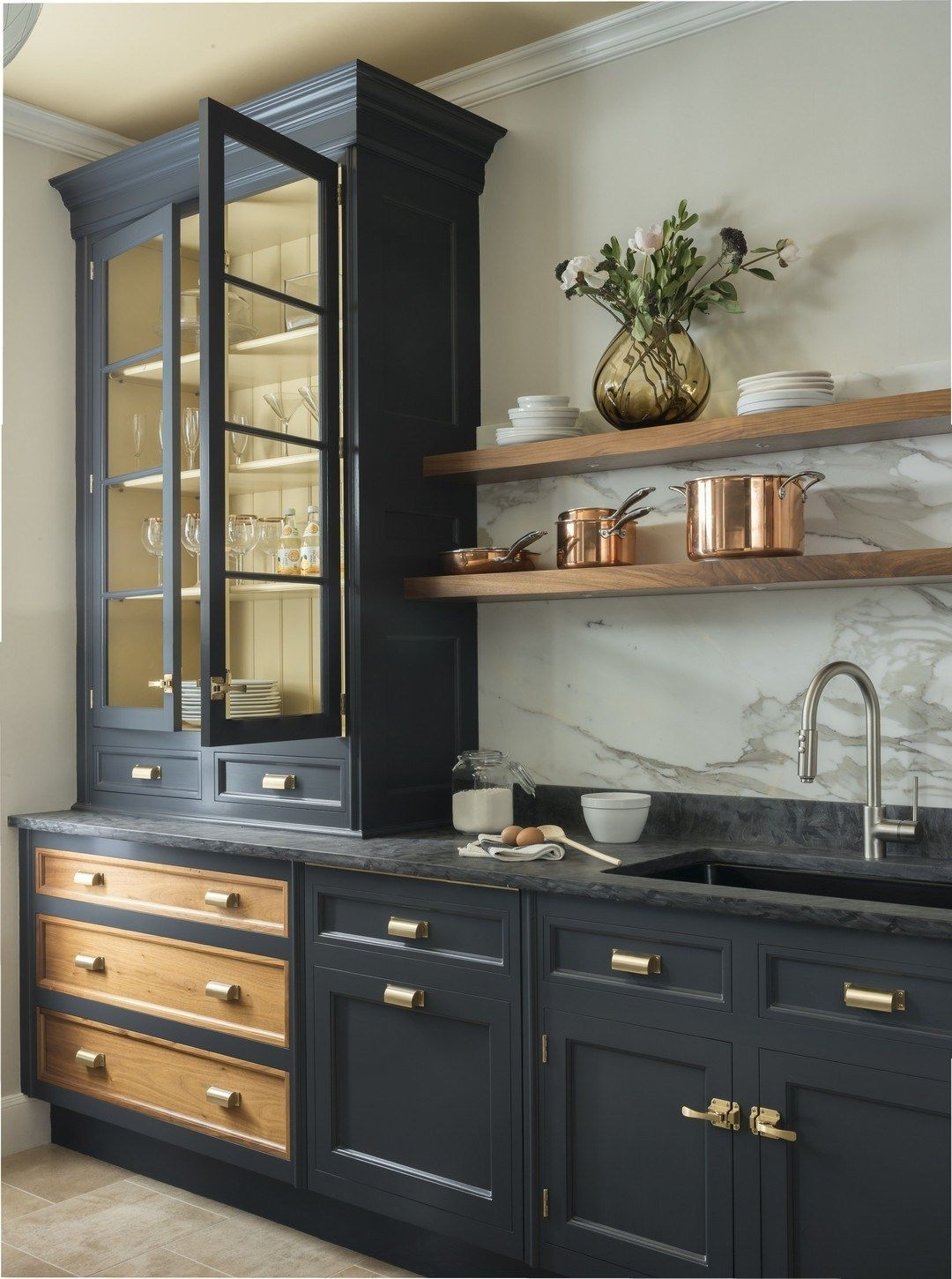 27 Brass And Marble Kitchen Makeover #topkitchendesigns