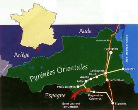 Perpignan is situated on the Mediterranean coast of France and