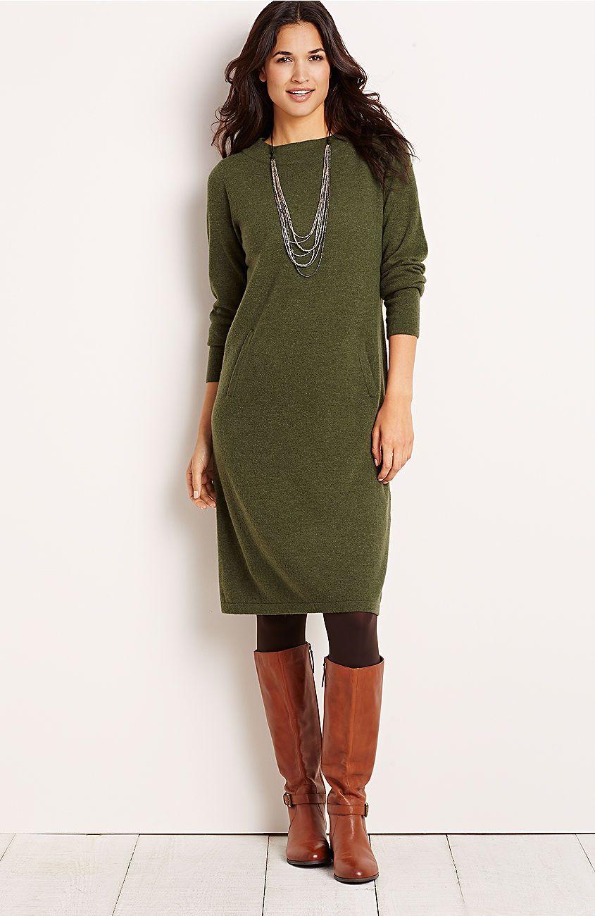 plus size Anika sweater dress from J.Jill $129 | style . #LOVEFALL ...