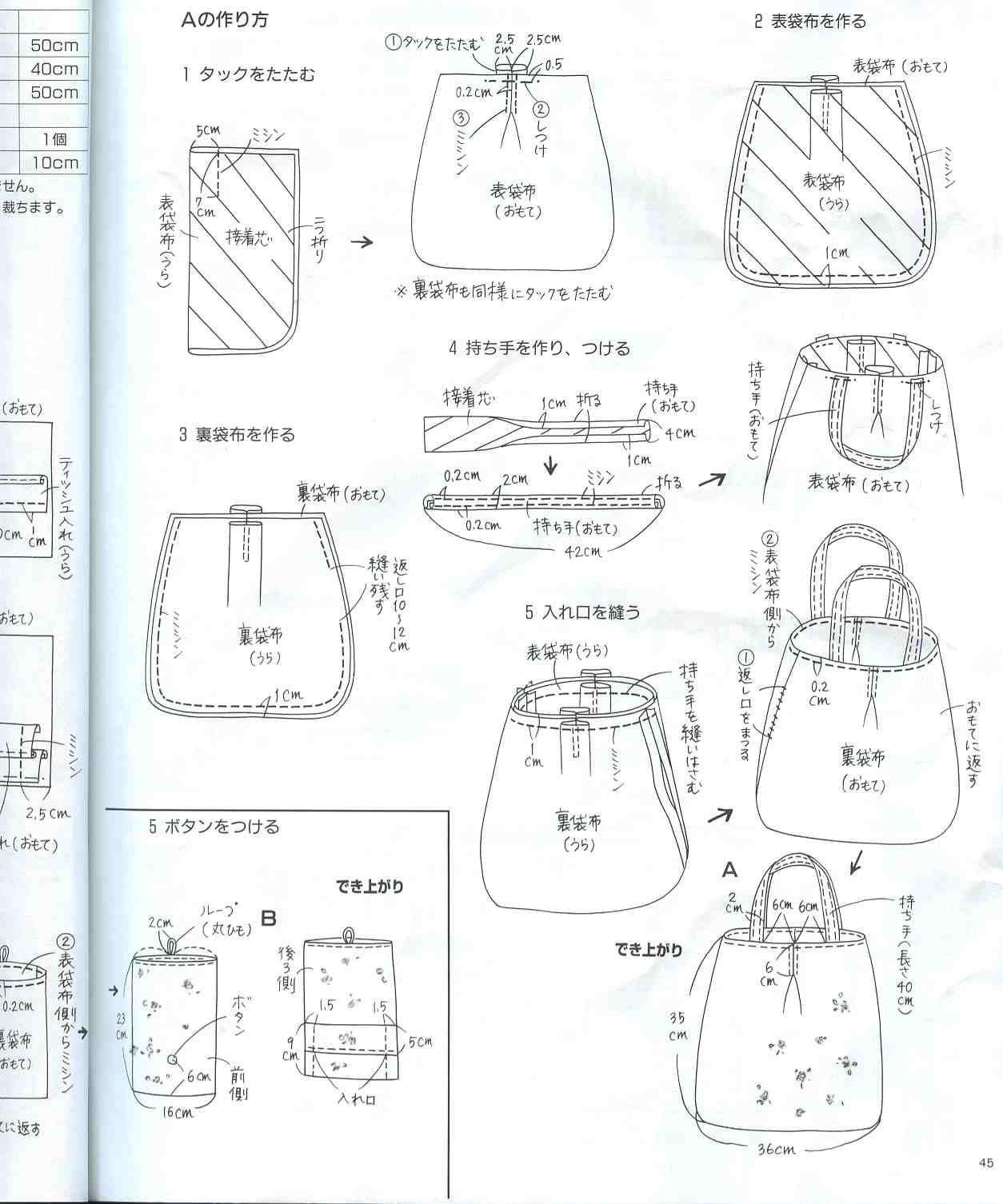 patrones de bolsos de tela para imprimir - Cerca amb Google ...