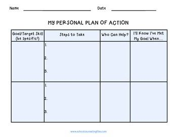 A Simple Worksheet To Use For Helping Students Identify Personal