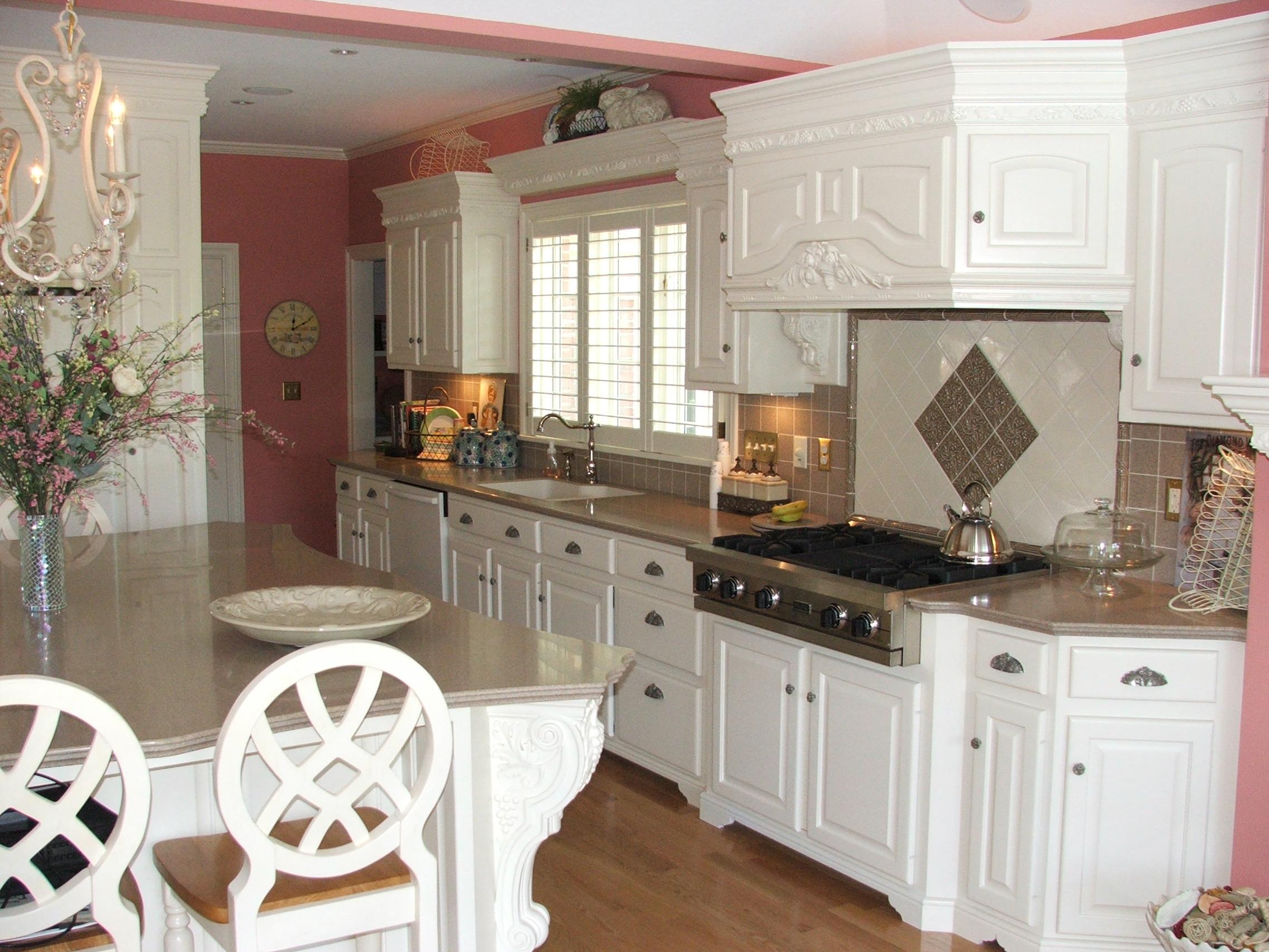 White Color Varnish Kitchen Kitchen Design Kitchen Home Decor