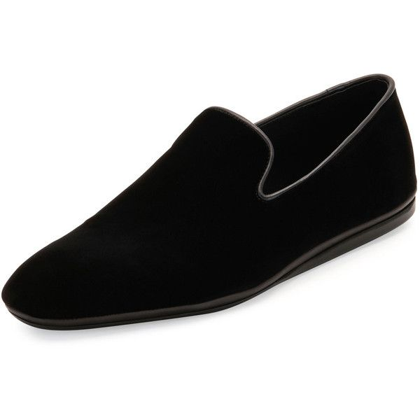 92046c7aa25 Salvatore Ferragamo Fiore Velvet Venetian Loafer ( 540) ❤ liked on Polyvore  featuring men s fashion
