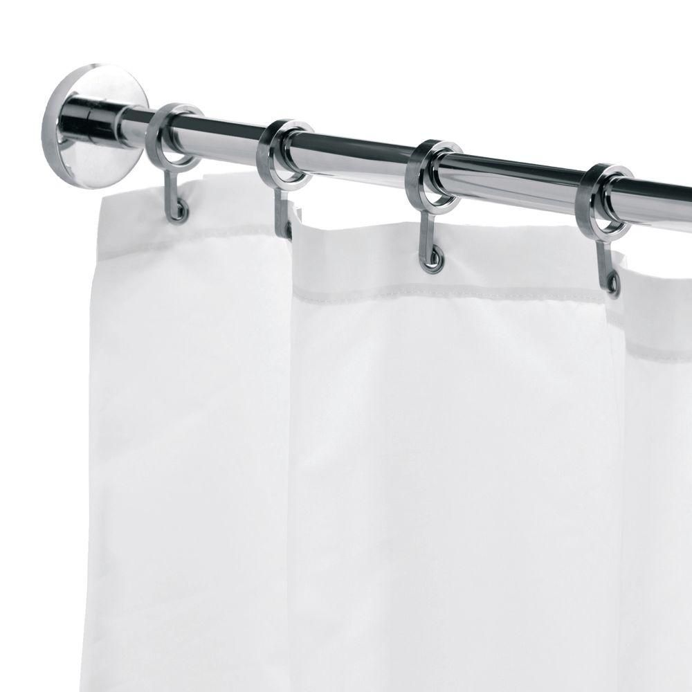 Croydex Round 98 4 In L Luxury Shower Curtain Rod With Curtain