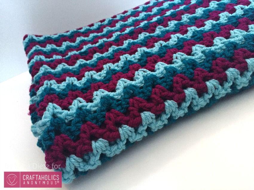 Easy Crochet Baby Blanket   Mantas de ganchillo, Ganchillo y Colchas