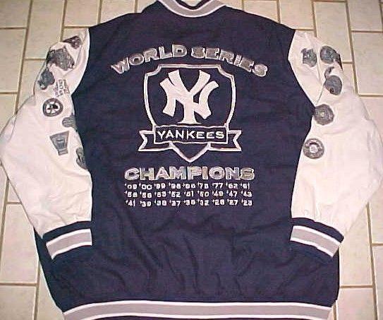 New York Yankees World Series Champions Mlb Carl Banks Blue White