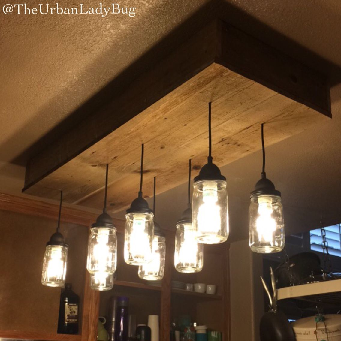 How to make a mason jar chandelier diy light fences and ceilings how to make a mason jar chandelier arubaitofo Image collections