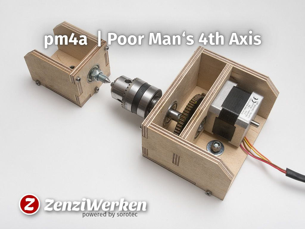 Poor Man S 4th Axis Cnc By Zenziwerken Thingiverse 4 Axis Cnc Diy Cnc Router Cnc