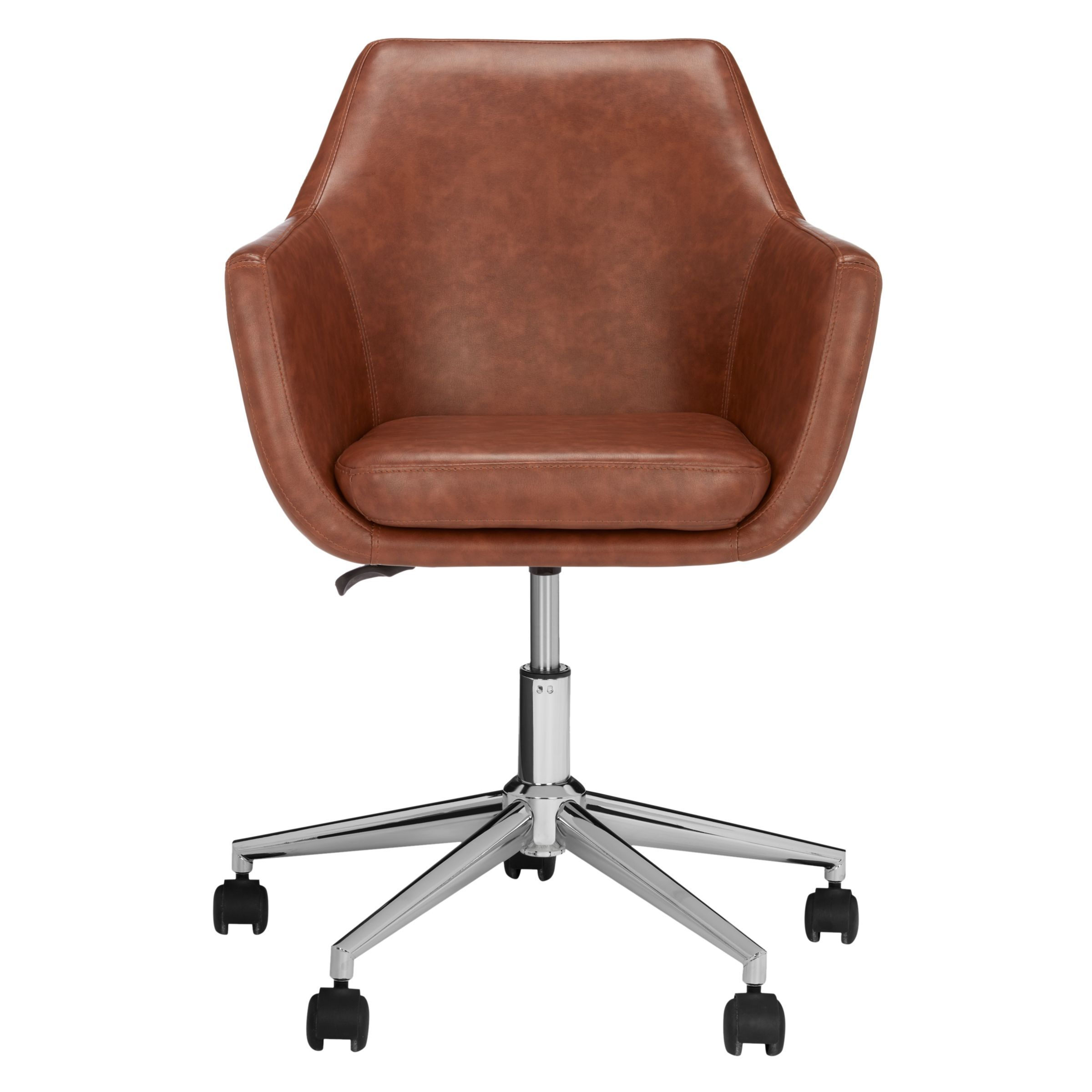 West Elm Cooper Mid Century Leather Swivel Office Chair In 2019