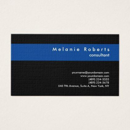 Linen black blue modern professional minimalist business card linen black blue modern professional minimalist business card consultant business job profession diy customize reheart Choice Image