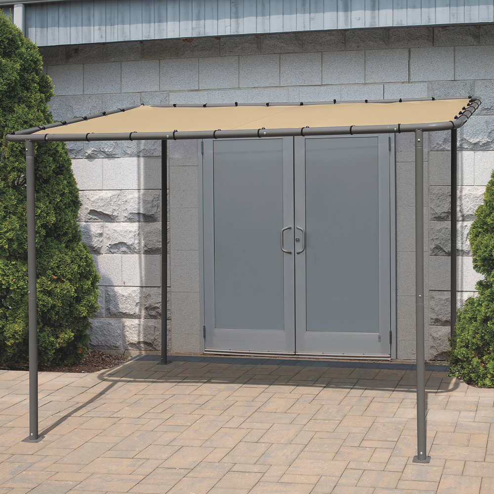 Shelterlogic Solano Patio Canopy Awning Tan 6ft L X 10ft W X 6 5ft H Www Kotulas Com In 2020 Patio Canopy Canopy Outdoor Living