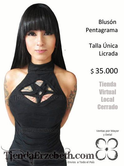 1e9b55958 bluson pentagrama sexy rock metal gotico estilo envios domicilios bogota  cali medellin popayan manizales pereira pasto tunja neiva