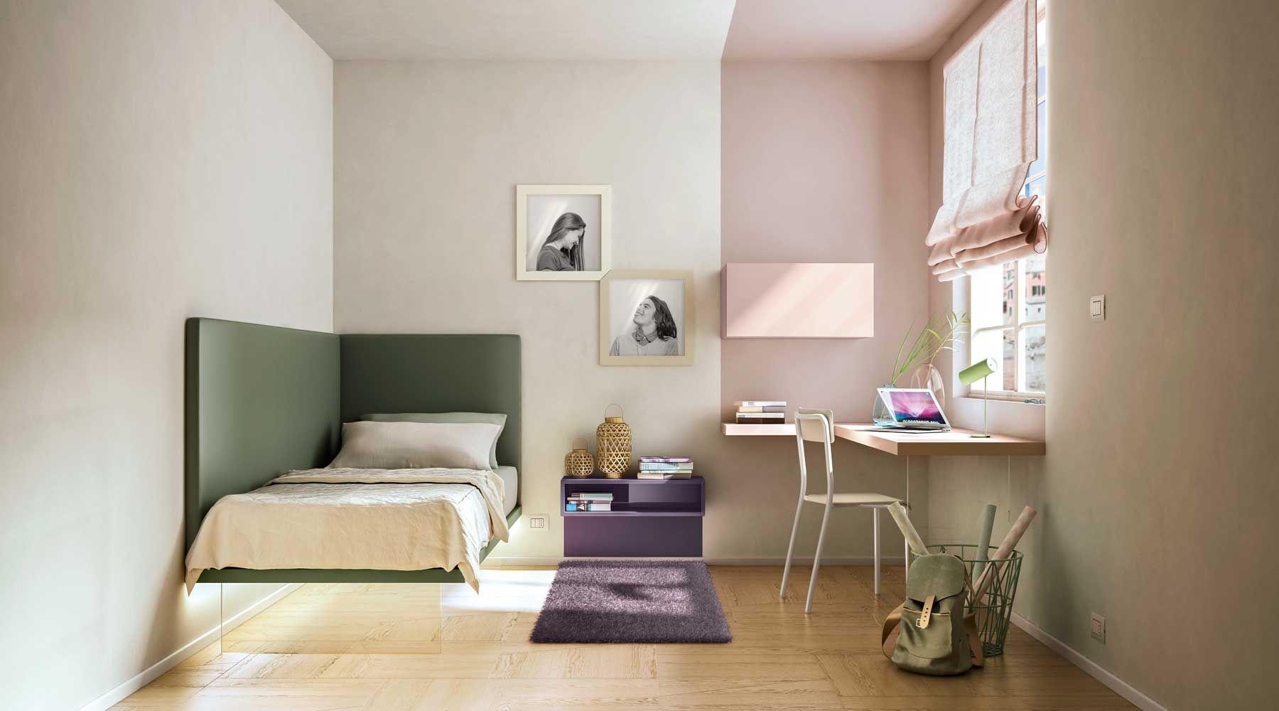 Una Cama De Esquina Perfecta Para Amueblar Habitaciones Peque As  ~ Amueblar Habitacion Juvenil Pequeña