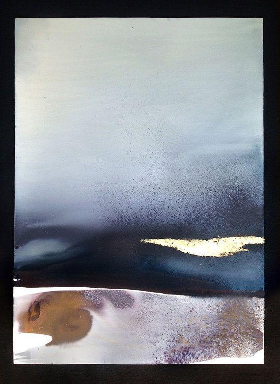 Peinture Originale Sur Fine Art Coton Papier 640 Gr Poesie Et La