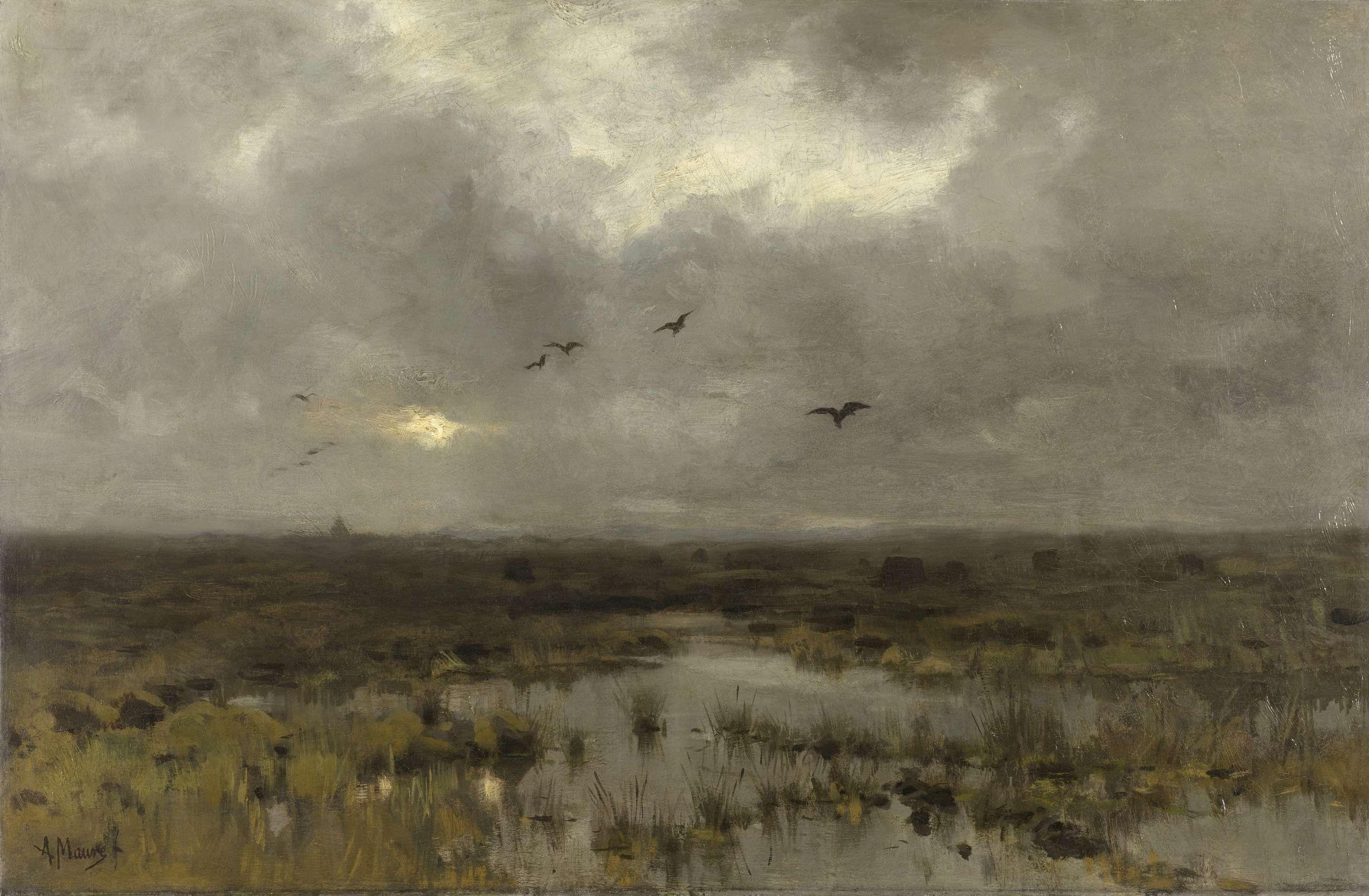 Het moeras, Anton Mauve, c. 1885 - c. 1888
