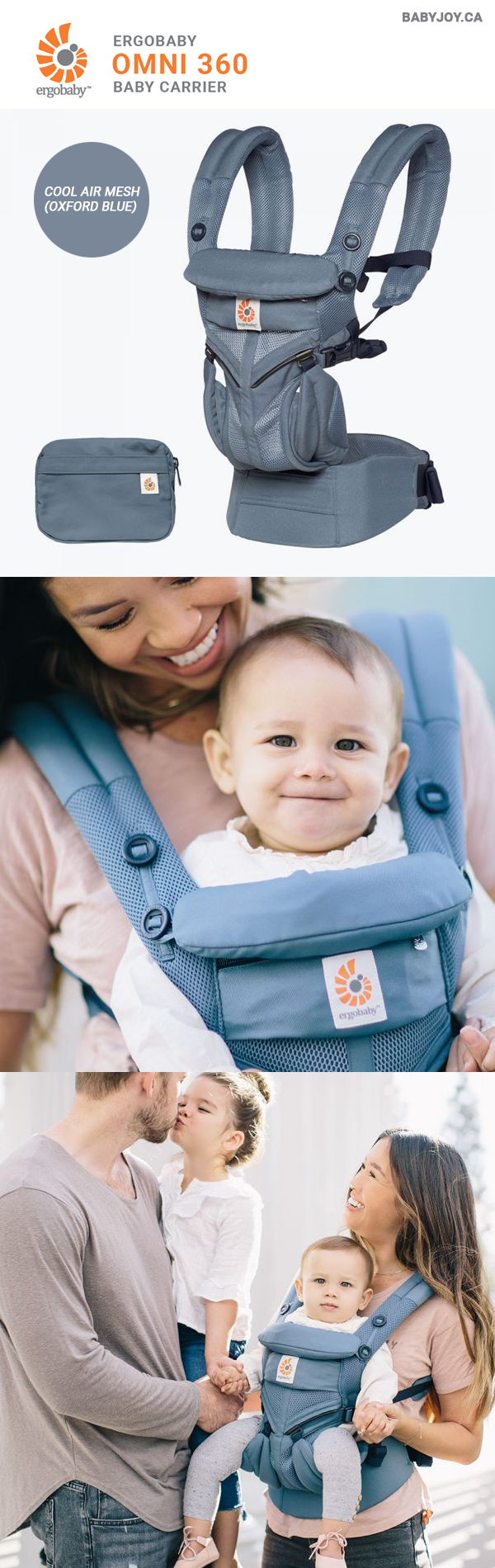 610002f23e4 Ergobaby Omni 360 Baby Carrier - Cool Air Mesh (Oxford Blue)