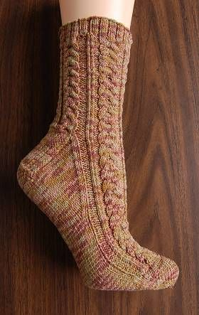 free knit men\'s sock pattern - Maizy Trail Mix Socks - corn fiber ...