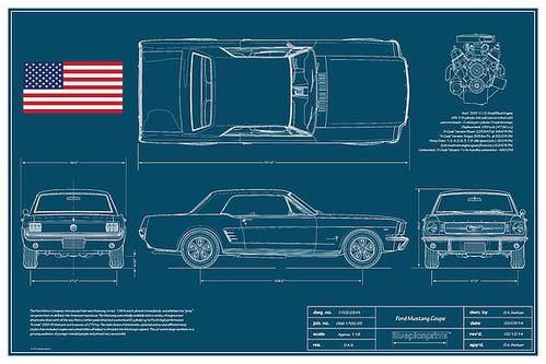 Ford Mustang Coupe Blueprint