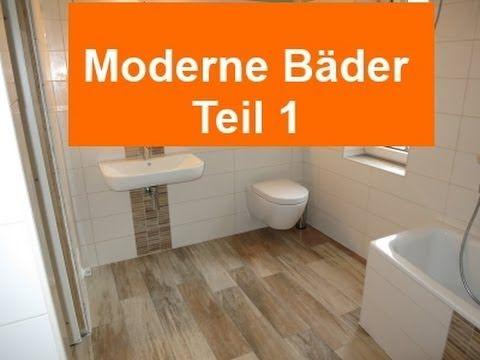 Moderne Bäder Teil 1 Feinsteinzeug Holzoptik Fliesen Oder Holzboden Im Bad