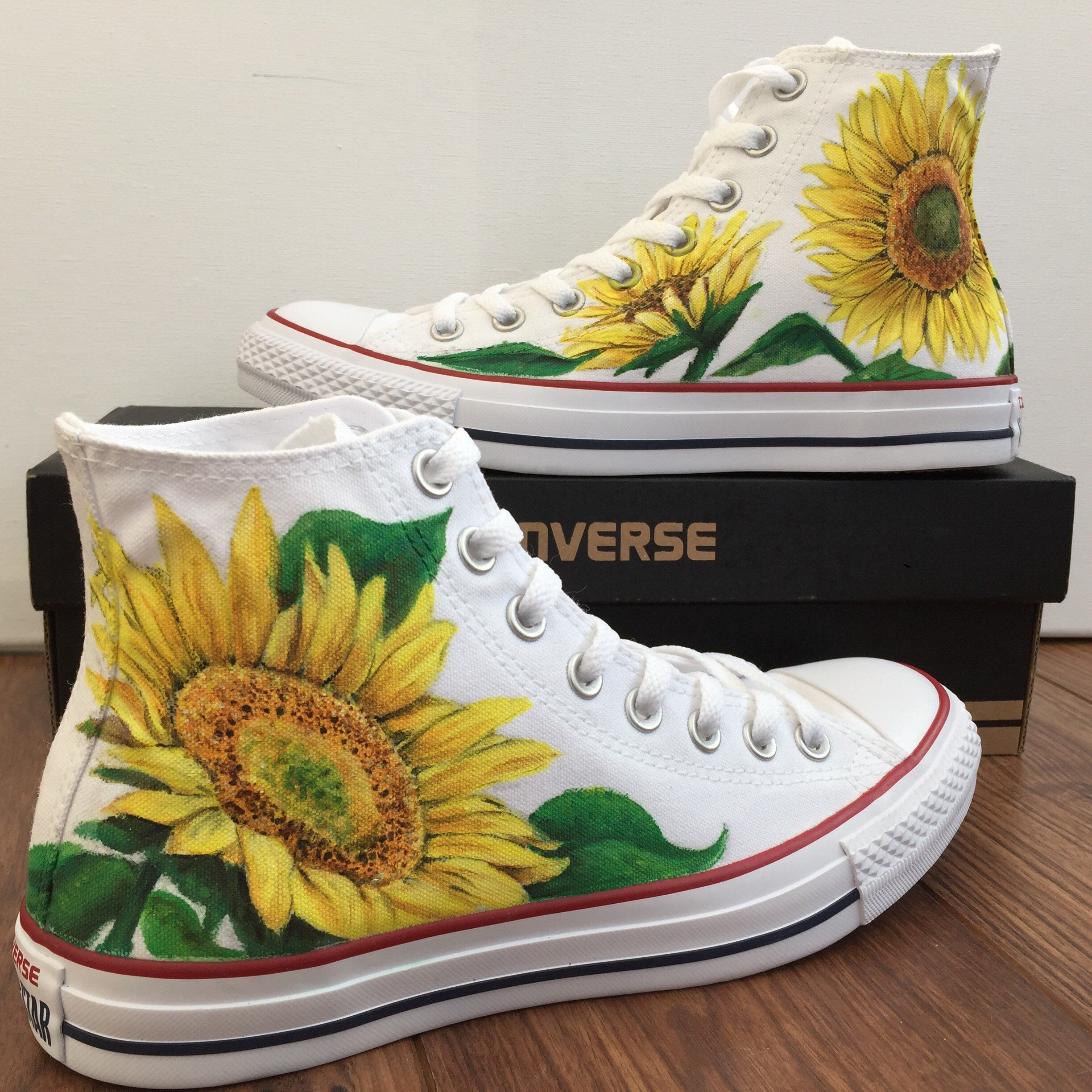 dd485aed1 Excited to share this item from my  etsy shop  Original Custom Hand Painted  Converse sunflowers  shoes  gift  sunflower  sunflowerconverse   sunflowershoes   ...