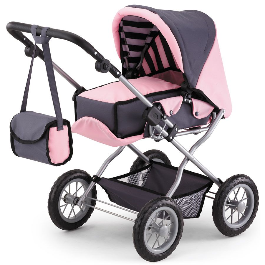 Precious Toys Pink and White Polka Dots Umbrella Doll Stroller with Hot Pink Handles and Silver Frame - B $ $ 15 99 Prime FREE Shipping on eligible orders.