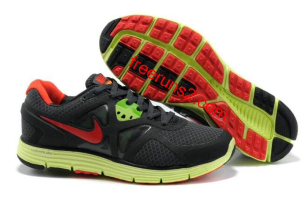 cheap for discount ff8a8 30831 Mens Nike Lunarglide 3 Black Yellow Red Shoes