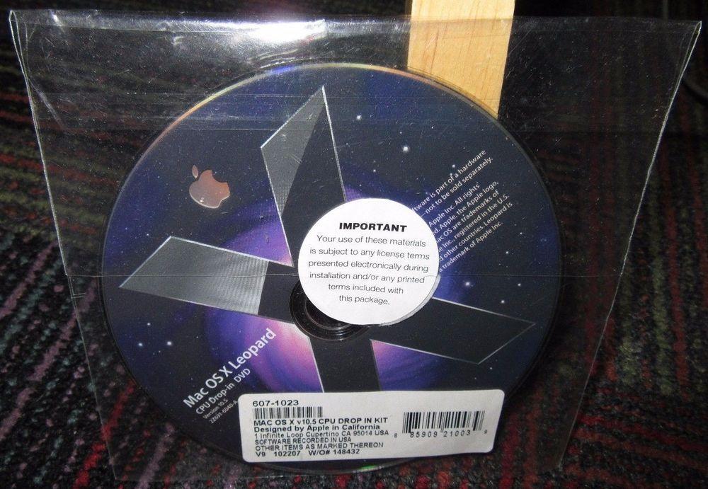 Mac os x leopard version 10 5 cpu drop-in dvd disc 607-1023