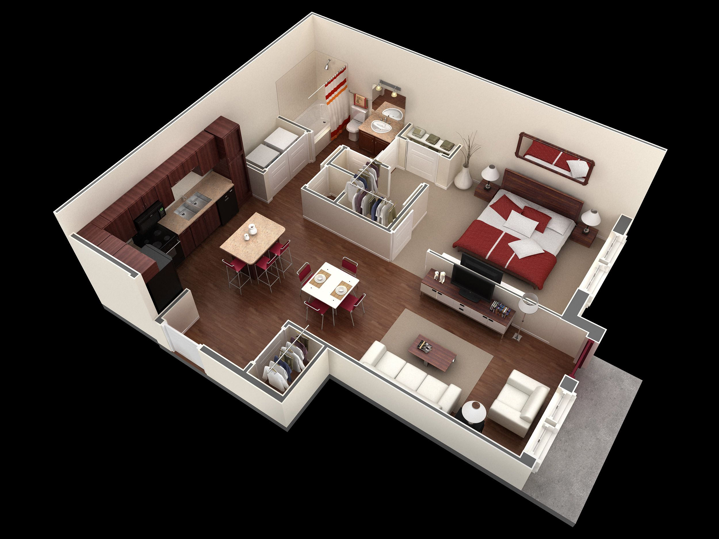 1 bedroom 1 bath 772 sf apartment at Springs at Legacy mons in