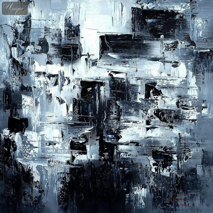 abstract painting black and white - Recherche Google | Art ... for Abstract Paintings Black And White And Blue  299kxo
