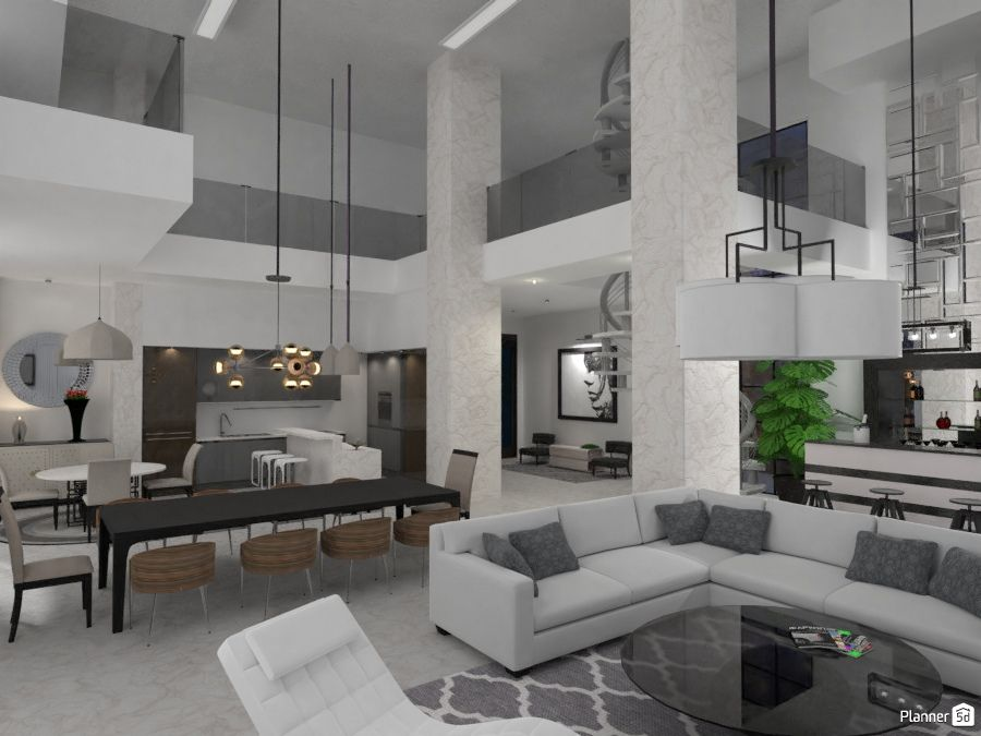 Loft Interior Design Living Room Loft Style Modern Interior