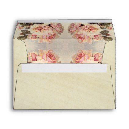 vintage rose flowers rice paper envelope paper envelopes and flowers