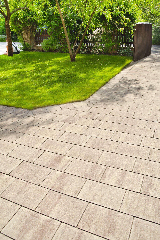 helles pflaster in beige-braun | hauszugang / gartenwege | pinterest