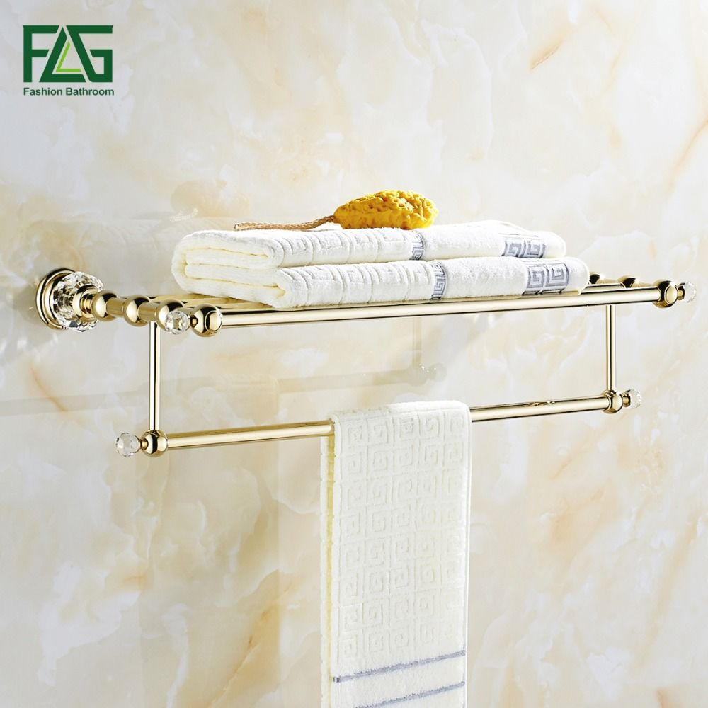 Flg Free Shipping Wall Mounted Bath Towel Rack Bathroom Captivating Bathroom Towel Bar Decorating Inspiration