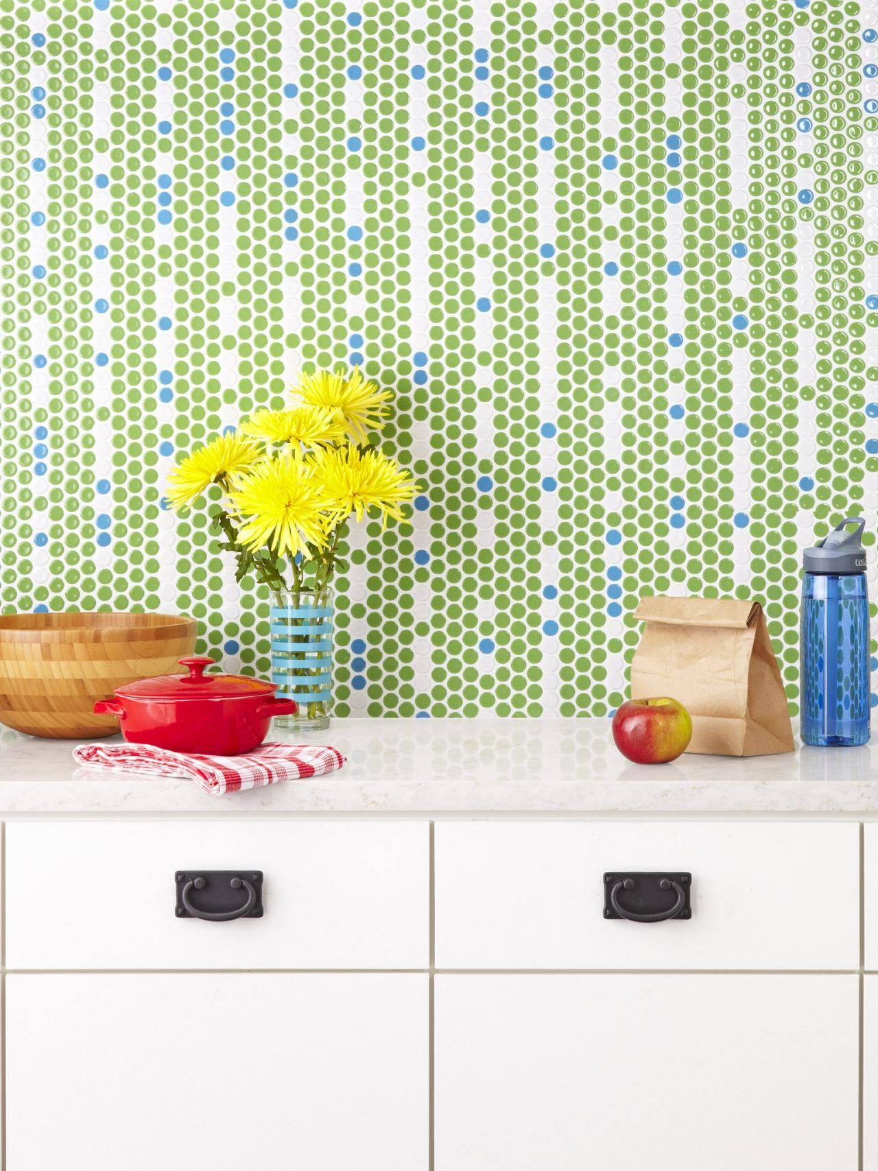 30 Penny Tile Designs That Look Like A Million Bucks Blue Penny Tile Backsplash Tile Design Penny Tile
