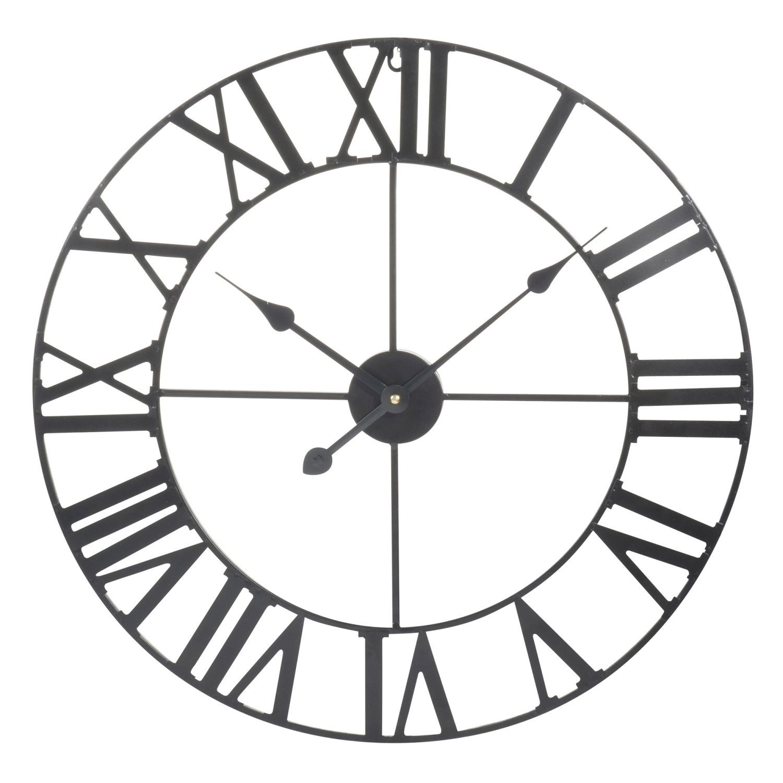 Metal Clock Black D60