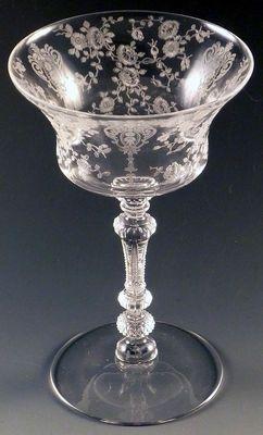Cambridge Glass Rose Point 3500 Crystal Champagne Sherbet Vtg Stemware Elegant ❤❤❤