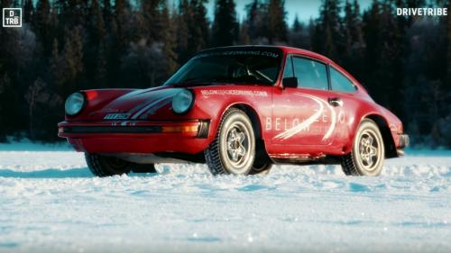 Steering Porsche 911s On Ice Must Be The Best Driving School Ever