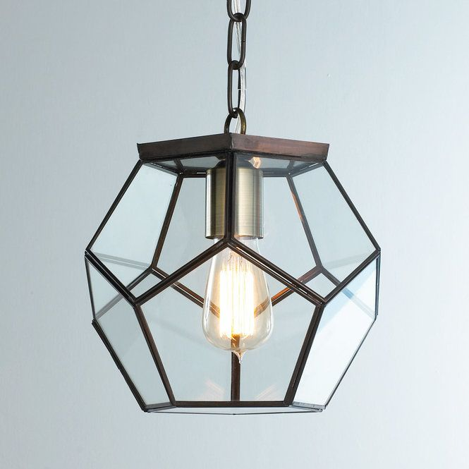 Clear Glass Prism Pentagon Pendant Light | Home Sweet Home ...