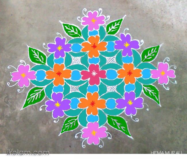Rangoli Happy New Year 20 2 Straight Dots Wishing You All A Happy New Year Www Ikolam Com Rangoli Designs With Dots Happy New Year Rangoli Designs