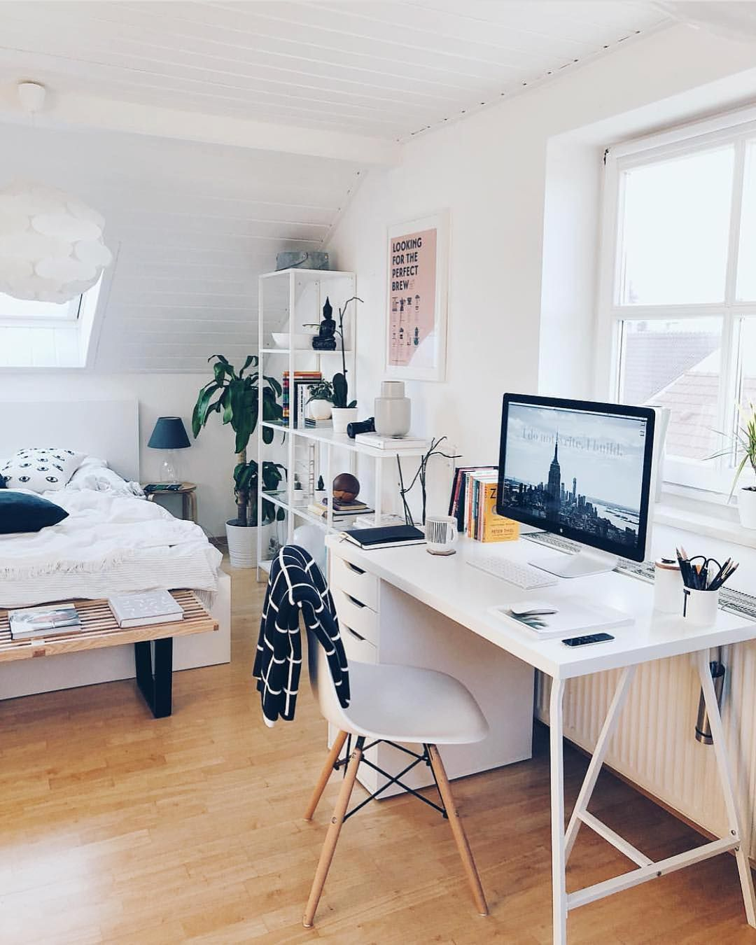 Bedroom And Workspace Setup By @tinalkeen